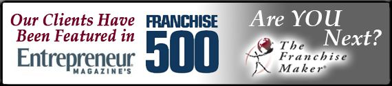 Our clients have been featured in Entrepreneur Magazine's Franchise 500